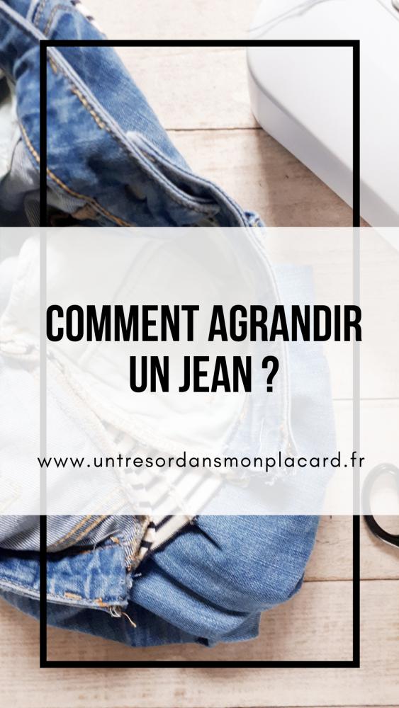 Comment agrandir un jean ?