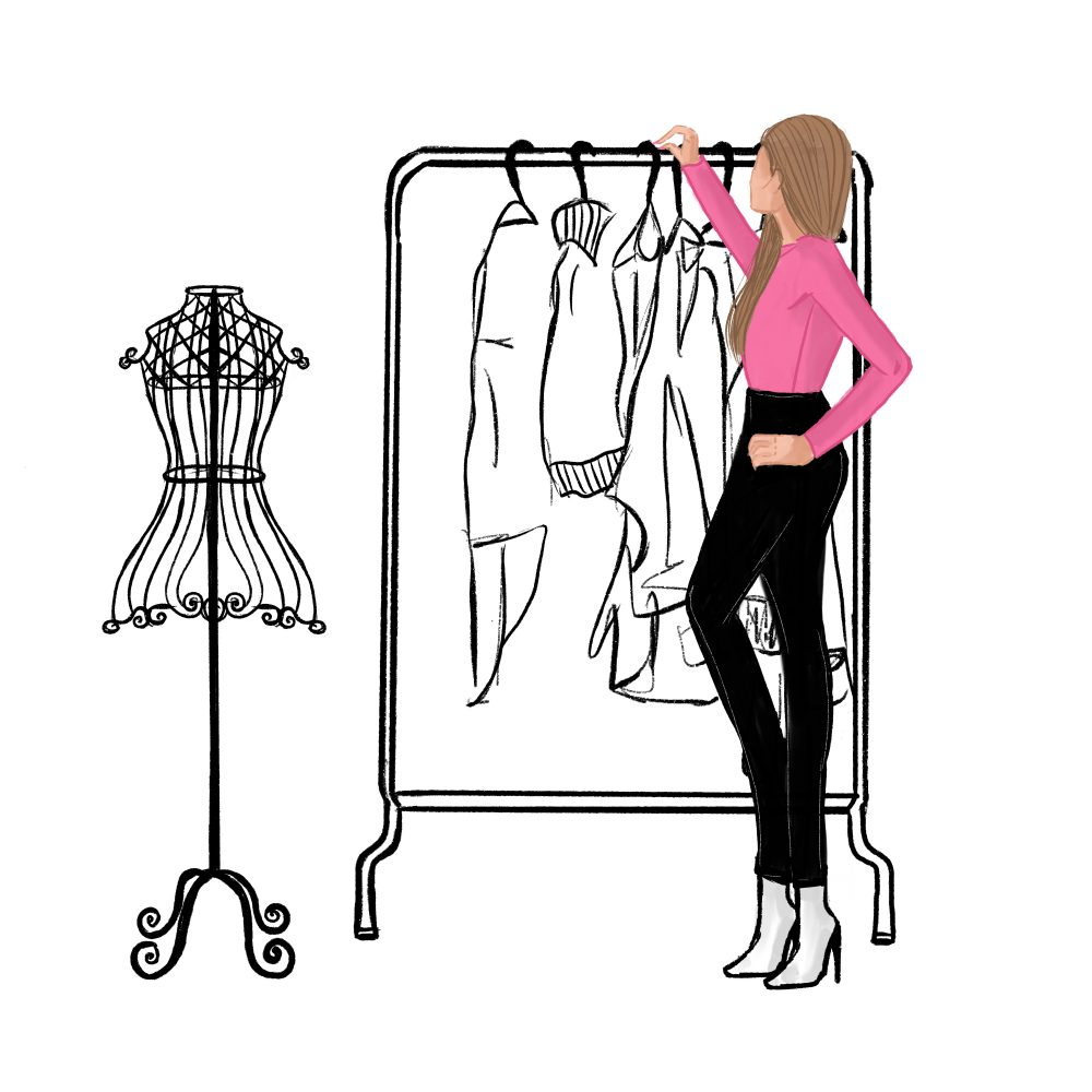hangez les vêtements que vous ne portez plus contre des vêtements de La Penderie partagée que vous aurez choisis grâce à la box vêtements swap!