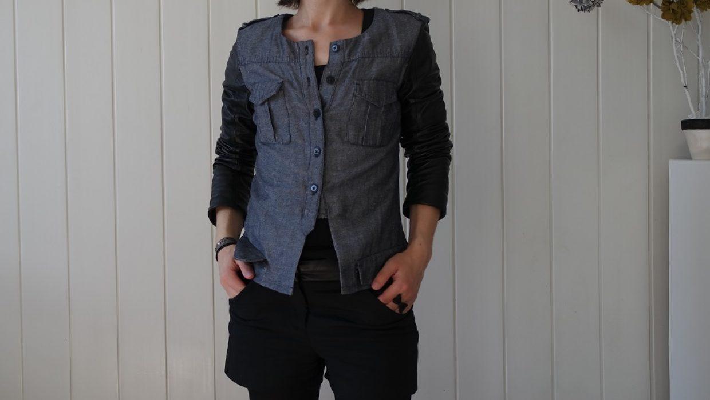 Mission upcycling : transformer une robe en veste bi-matière